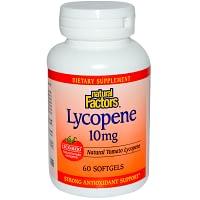 Natural Factors, Lycopene, 10 mg, 60 Softgels