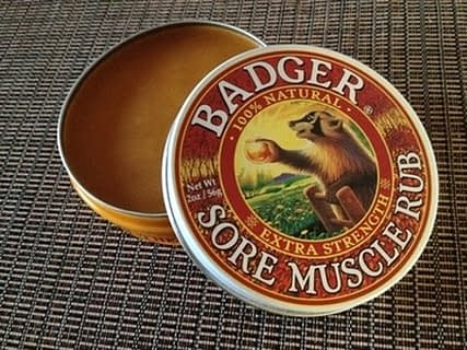 肩こり緩和バーム:Badger Company Sore Muscle Rub