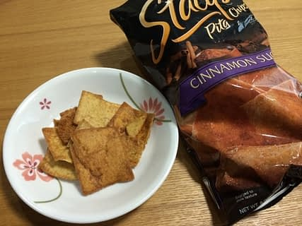 iherbお菓子:Stacy's Pita Chips Cinnamon Sugar Flavored