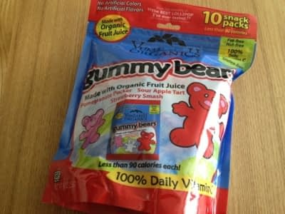 フルーツグミ:Yummy Earth Organics Gummy Bears